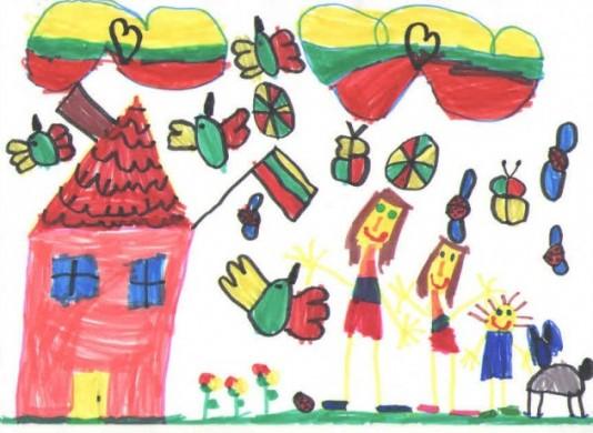 """Balsuok! Mokinių piešinių konkursas: """"Mano namai – laisva Lietuva!"""" - DELFI Šeima"""